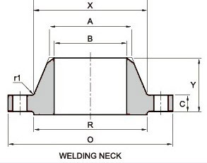 ANSI B16.47 600lb API Welding Neck Flanges Dimensions & Weight